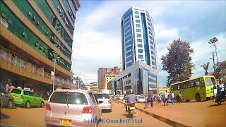 Afternoon Drive Through Kampala City from Wandegeya to Enter be road traffic lights 2018