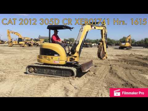 CATERPILLAR EXCAVADORAS DE CADENAS 305D CR equipment video _MYJNYgavEo