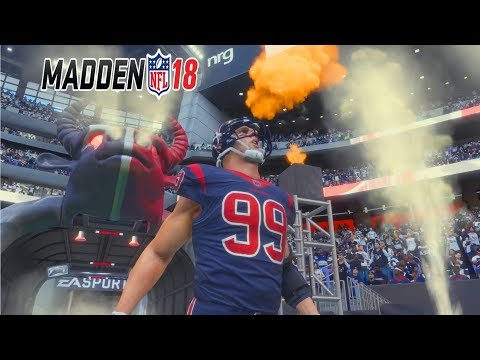 Madden 18 Gameplay Full Game - DESHAUN WATSON vs MITCHELL TRUBISKY (видео)