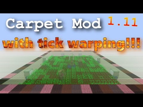 Carpet Mod with Tick Warping - Minecraft 1.11 Mod