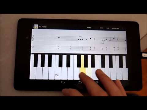 Video of Act Piano :notation midi score