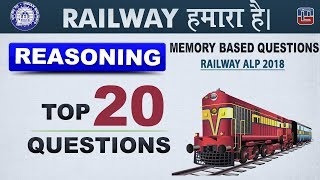 Memory Based Questions | Top 20 Questions | Railway 2018 | Reasoning | 6 PM