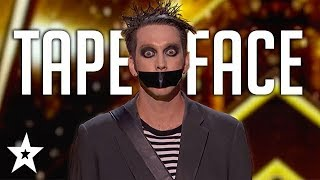 Video TapeFace Presses The GOLDEN BUZZER For Terry Crews on AGT: Champions | Got Talent Global MP3, 3GP, MP4, WEBM, AVI, FLV Maret 2019