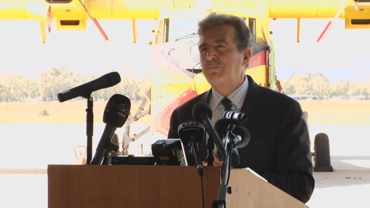 Ο Μιχάλης Χρυσοχοΐδης σε τελετή τη συνεισφορά της Ελλάδας στο μεταβατικό στόλο του rescEU
