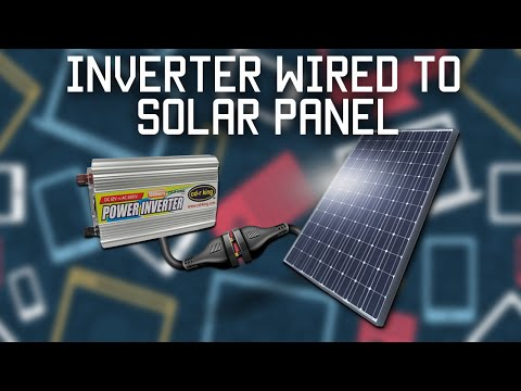 solar - Can you connect an AC inverter directly to a solar panel? Let's find out! In this video I connect a 500 watt inverter directly to a 50 watt solar panel. The ...