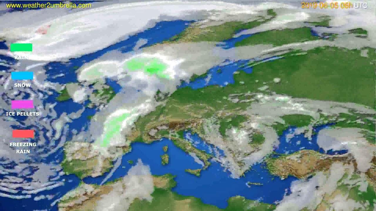 Precipitation forecast Europe // modelrun: 00h UTC 2019-06-03