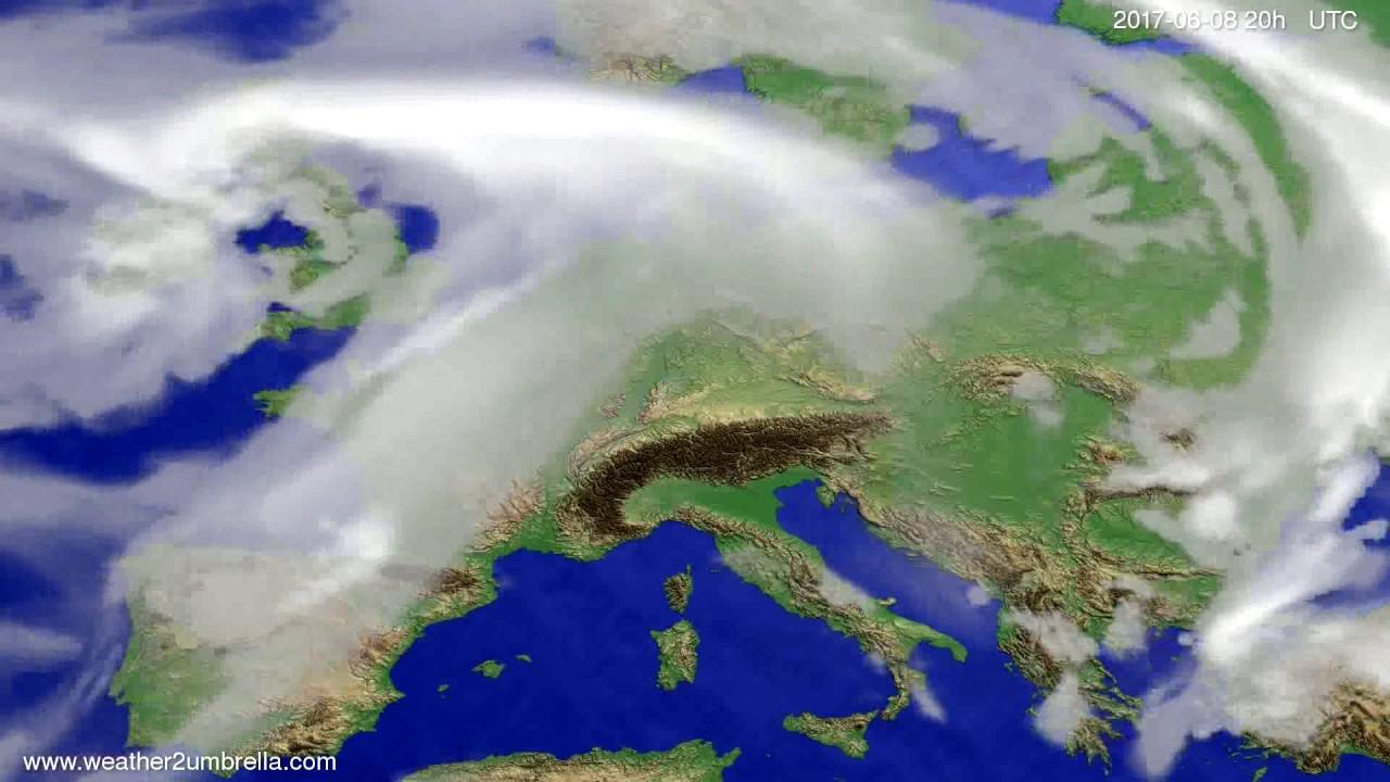 Cloud forecast Europe 2017-06-06