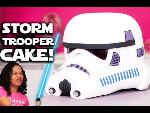 How to Make a Realistic Stormtrooper Helmet Cake