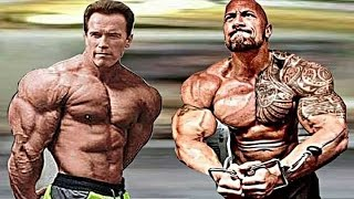 Video The Rock Training With Arnold Schwarzenegger | Workout 2017 MP3, 3GP, MP4, WEBM, AVI, FLV November 2018