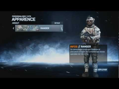 comment debloquer camouflage arme bf3