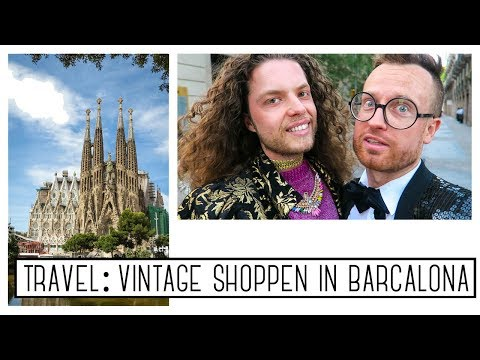 TRAVEL VLOG: VINTAGE SHOPPEN IN BARCELONA