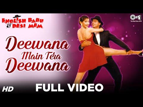 Video Deewana Main Tera Deewana - English Babu Desi Mem   Shahrukh & Sonali   Kumar Sanu & Alka Yagnik download in MP3, 3GP, MP4, WEBM, AVI, FLV January 2017