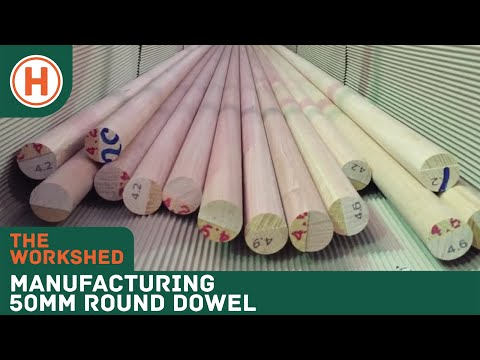 Manufacturing 50mm round dowel on our Weinig moulder