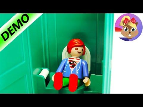 PLAYMOBIL JULIANS EIGEN DIXI WC! Toilet voor op de bouwplaats! Voor als je NODIG moet!