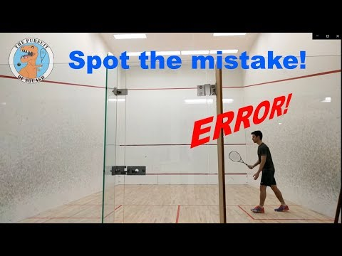 Squash - The Nearly Perfect Serve - Spot The Error