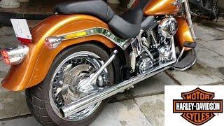 8. Harley Davidson Softail Fatboy Vance&Hines Exhaust Note/Walkaround