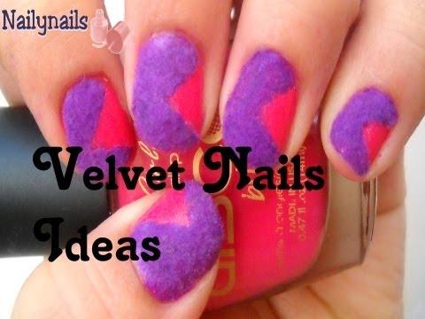 Velvet Nails Ideas- Uñas con efecto de Terciopelo