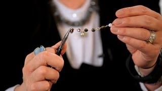 How to Make Head Pin&Add Beads Vertically | Making Jewelry