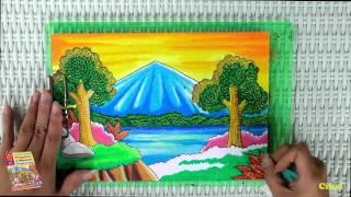 Download Video Tutorial Mewarnai Pemandangan Alam dengan Krayon (Oil Pastel) MP3 3GP MP4