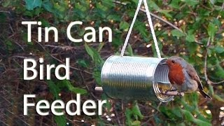 איך ליצור מתקן האכלה לציפורים מקופסת שימורים?