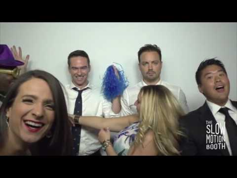 I went to a wedding last night with a slow motion video booth.