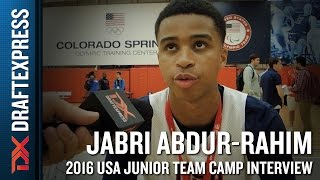 Jabri Abdur-Rahim Interview at USA Basketball Junior National Team Camp