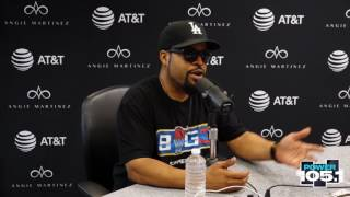 """On the passing of Prodigy from Mobb Deep, who both Angie and Cube agree was rap legend, he says: """"on the West coast we..."""