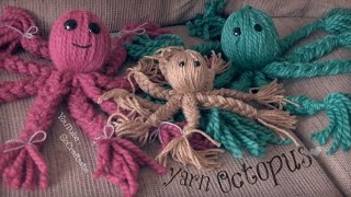 Yarn Octopus Doll - How To // DIY - YouTube