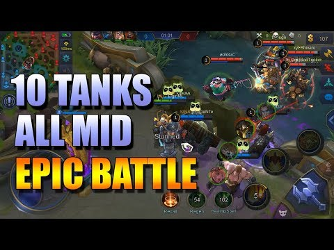 5 VS 5 ALL TANKS ALL MID WHAT WILL HAPPEN?