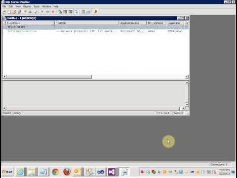 SQL Setup profiler to monitor database table