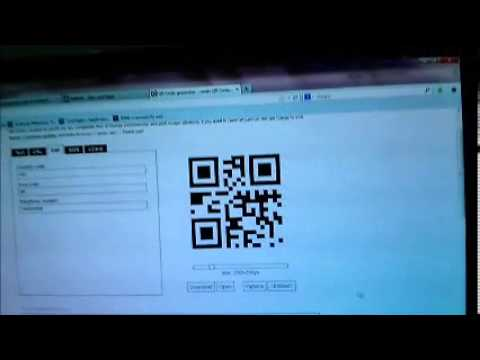 Video of QR Dialer