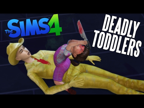 THE SIMS 4 DEADLY TODDLERS - FUNNY MOD (видео)