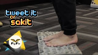It's the first punishment & Guibo gets a reflexology mat torture! Decide who will be the next one to get punish! #FlyTweetItOrSakit Check us out at: http://w...