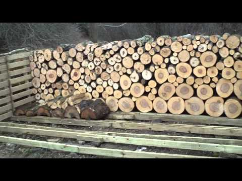 Build a Firewood Stacking Rack