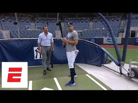 [Exclusive] Giancarlo Stanton and Alex Rodriguez talk batting strategy, Yankees & more | ESPN
