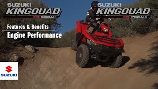 8. KINGQUAD 750 /500 AXi 4X4 / POWER STEERING OFFICIAL TECHNICAL PRESENTATION VIDEO -Engine-
