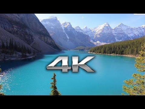 Endless Looping 4K Scene: Moraine Lake, Banff Alberta + Nature Sounds Screensaver