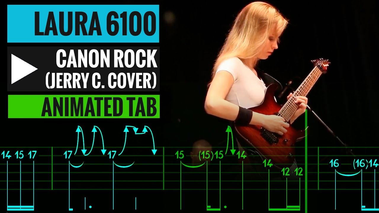 Canon Rock Tab – Jerry C cover by Laura – Guitar Lesson – How to play
