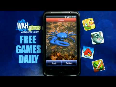 Video of Blue Crab Free live wallpaper