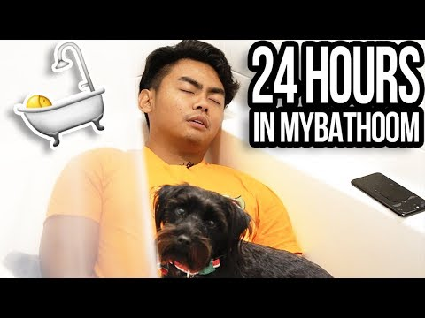 Video 24 HOUR OVERNIGHT CHALLENGE IN BATHROOM! download in MP3, 3GP, MP4, WEBM, AVI, FLV January 2017