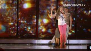 Kejsi Tola's First Rehearsal (impression) At The 2009 Eurovision Song Contest