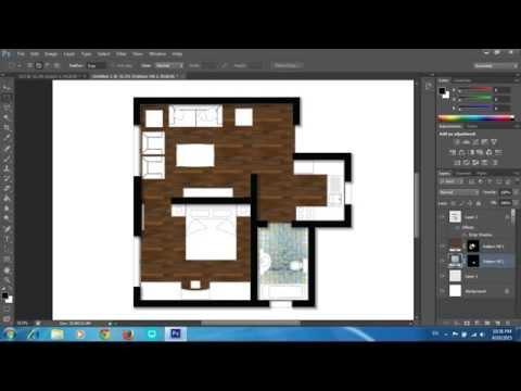 Adobe Photoshop CS6 - Rendering a Floor Plan - Part 1 - Floors and Pattern