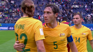 Watch highlights of the match between Cameroon v Australia from the FIFA Confederations Cup 2017 in Russia.