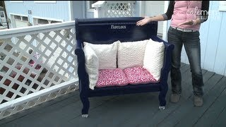 Build a Bench Out of an Old Headboard! - Make It Fabulous - Episode 3 - YouTube