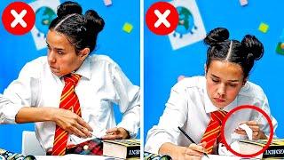 Video BACK TO SCHOOL || 35 GENIUS SCHOOL TIPS TO MAKE STUDYING MORE FUN MP3, 3GP, MP4, WEBM, AVI, FLV September 2019