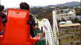 Fukuyama Japan  city images : みろくの里 ジェットコースター Roller Coaster in Fukuyama Japan