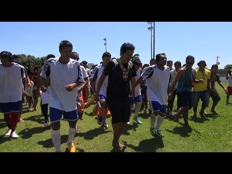 Football at the Indigenous Games in Brazil