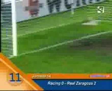 Milito en el Zaragoza: sus 23 goles en la temporada 2006-07