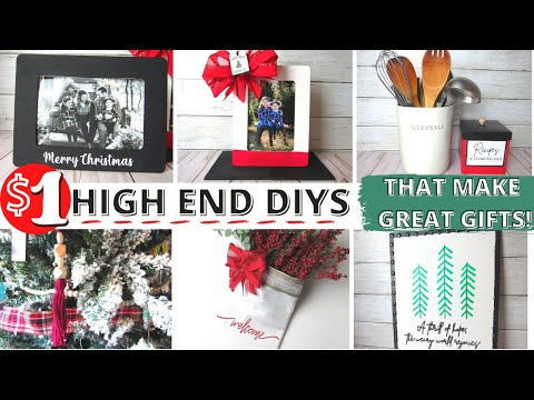 🎄GORGEOUS High End $1 Dollar Tree Christmas Crafts|DIYS UNDER $5| HIGH END DIY GIFTS THAT WILL WOW!
