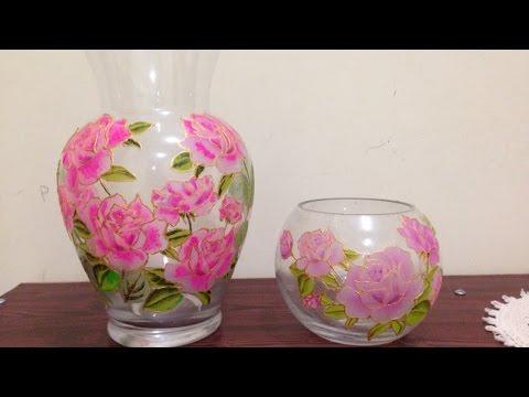 decoupage – vaso floreale